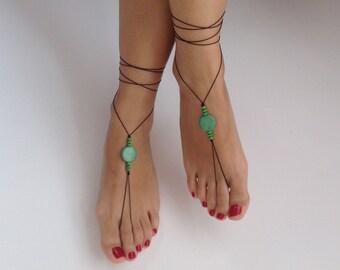 Barefoot Sandals, wedding , Bikini , Women , Beach , Bridal Sandals , Bridal Jewelry ,shoes