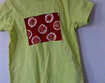 12, 18, or 24 month Toddler Boy Romper, mustard yellow cotton knit, hand dyed, Carol Nesper Studio