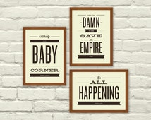 MOVIE QUOTES, Typography, Nursery, Valentines Day, 5 x 7 Art Prints,  Music, Indie, Baby, Almost Famous, Empire Records, Dirty Dancing