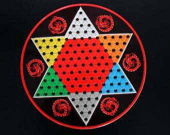 Vintage Chinese Checkers Board Game by Ohio Art