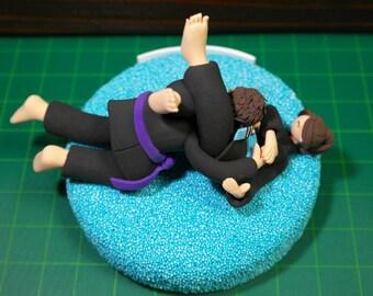 Custom Wedding Cake Topper - Jiu jitsu's a powerful skill 'Triangle Choke' - Funny theme