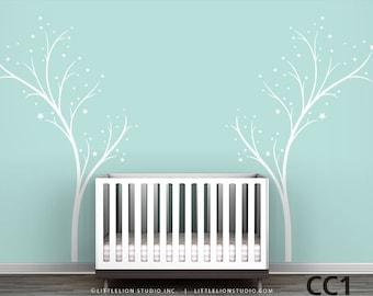 Twinkle Tree - Tree Stars Decal - Modern Kids Room Decor