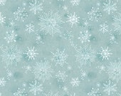 Fleeting Blue Snowflakes - MERRY STITCHES (Christmas) by Cori Dantini for Blend Fabrics - By the Yard