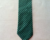 Kelly Green & Black Checked Necktie