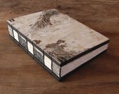 wedding guest book -  birch bark wood book - rustic cabin guest book - handmade journal - nature lover forest  natural white - ready to ship