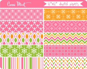 Pink Ocean Adventure Digital Papers