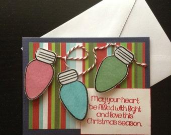 Christmas Lights Christmas Card Set of 6