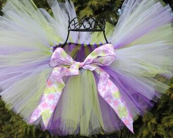 Purple, Lavender, and Green Tutu - 1st Birthday Tutu - Spring Tutu