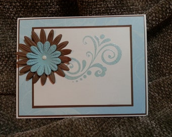 Soft Blue and Brown Sympathy Card B