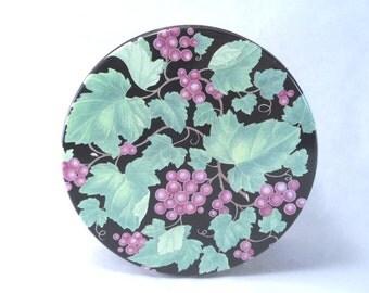 Cookie Tin Grape Decoration Vintage 80's