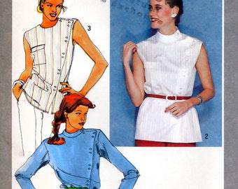 Simplicity 9474 Vintage 80s Misses' Shirt Sewing Pattern - Uncut - Size 12 - Bust 34