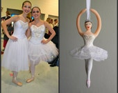 Snow Ballerina Ornament from The Nutcracker CUSTOMIZED to your costume Hand Sculpted in Clay