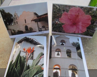 California Missions San Diego Photo cards (Blank inside)