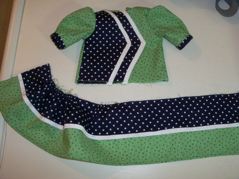 Printed pattern kits school dress sewing pattern fits american gallery photo gallery photo jeuxipadfo Images