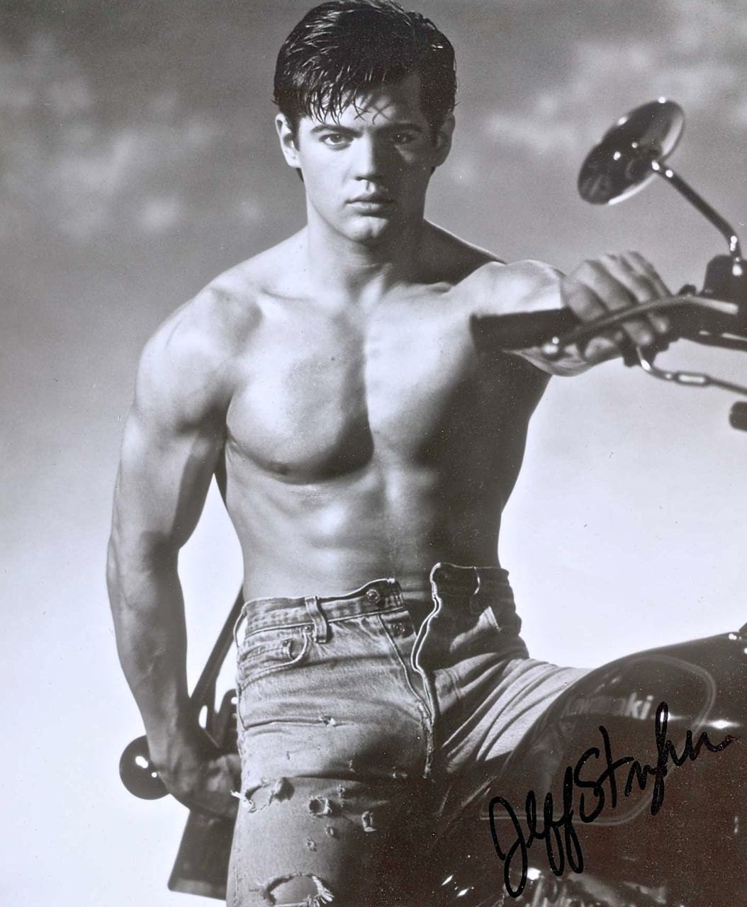 Mature Gay Interest Jeff Stryker Autographed 8 X 10 Black