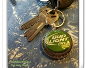 Budlight lime upcycled keychain