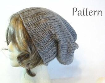 Pattern Good Karma Slouchy Knit Beanie/ Hat Pattern/ Slouchy Hat Pattern/ Beanie Pattern/ Slouchy Beanie Pattern/ Knitting Pattern