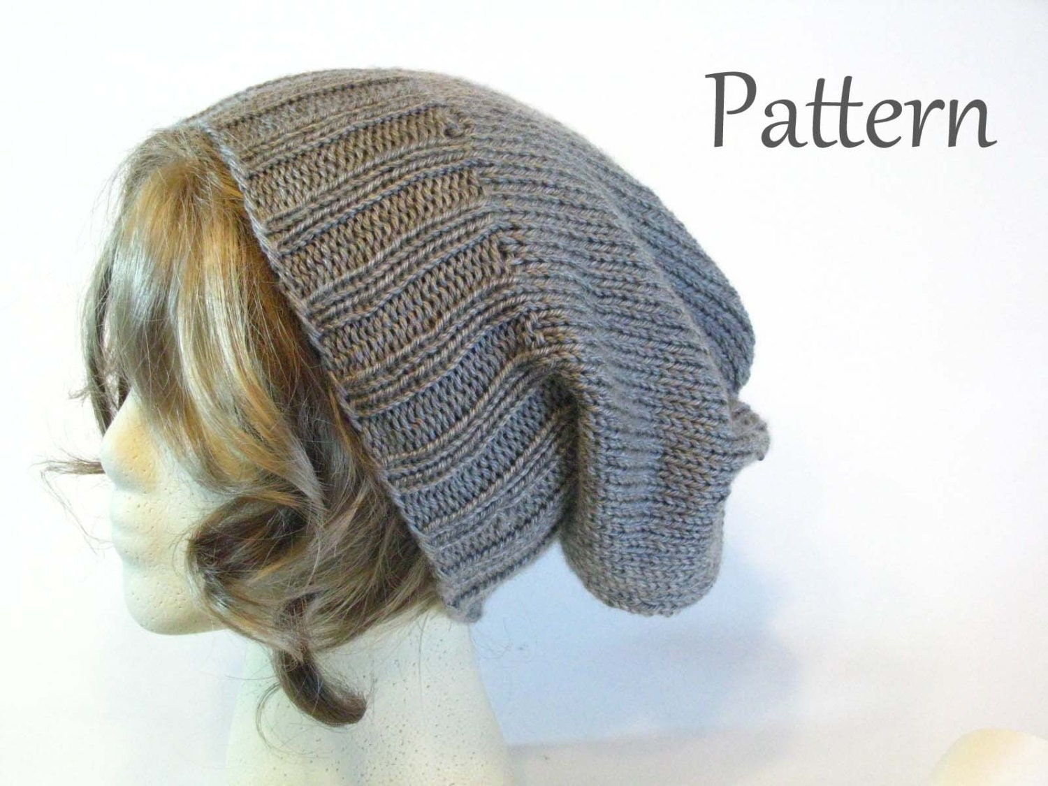 Knitting Beanie Patterns : Pattern good karma slouchy knit beanie hat