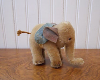 Vintage STEIFF Small GOP Elephant Made of Mohair 1950 Germany Political Toy