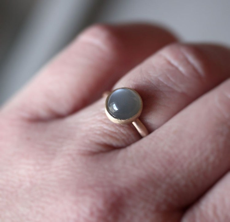 Grey Moonstone Ring Platinum Gray Moonstone And By Theslyfox