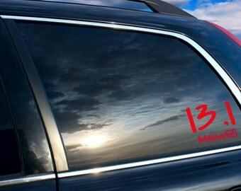 13.1 Car sticker, 13.1 car decal, 13.1