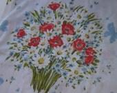 Butterfly Bouquet Vintage Twin Flat Sheet