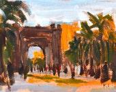 Arc de Triomf, Barcelona Landscape Painting