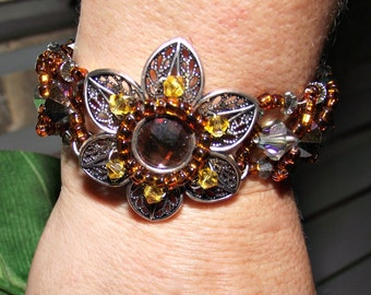 Fall Color Beaded Bracelet