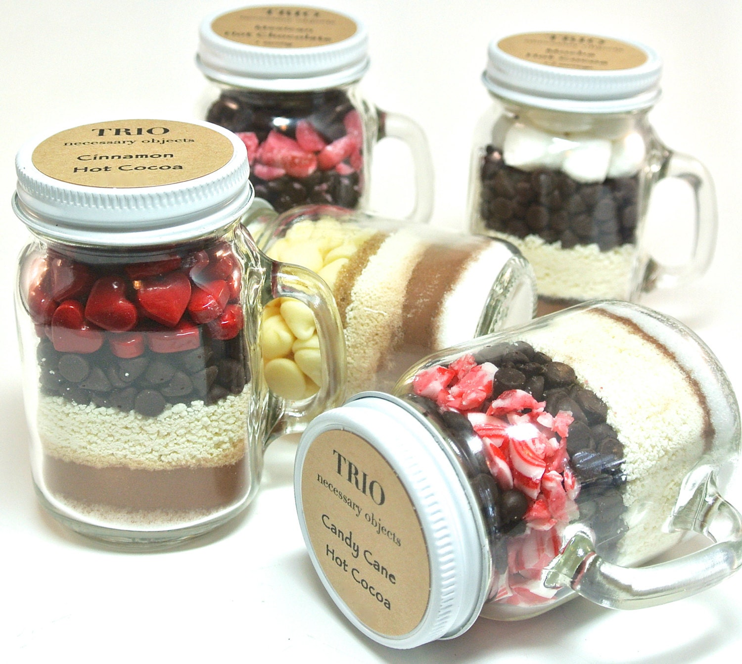 Hot Chocolate Wedding Favor 12 Mini 4 oz Mason Jar Mugs Hot