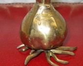 vintage Brass Flower Vase - SPRING ONION BULB, 1985 Carnevale