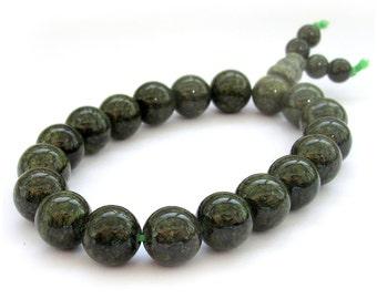 10mm Round Black Green Stone Meditation Yoga Prayer Beads Mala Rosary Beaded Bracelet  T2634