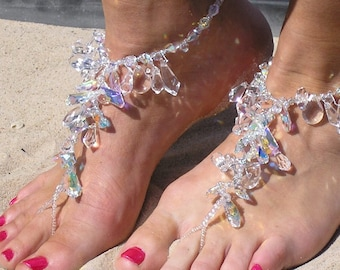 Happi Feet - barefoot sandals - barefoot beach wedding shoes - barefoot destination wedding shoes - The Chandeliers HF101