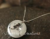 Custom Hand Stamped Sterling Silver ALASKA Locket Necklace