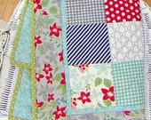 "Doll Quilt - ""April Showers Grey"""