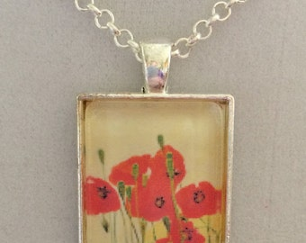 Field of Poppies Pendant Necklace