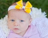 Baby Headband, Petite Moonstitch Boutique Baby Headband Bow ANY Color YOU Choose, Baby Bow, Bow, Baby Bow Headband, Set of 4
