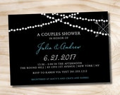 STRING OF LIGHTS Couples Shower Bridal Shower Baby Shower Invitation - You Print, diy, Digital File