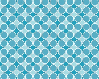 Lila Tueller for Riley Blake Designs - SPLENDOR - Geometric in Blue - Cotton Fabric