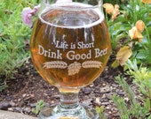 Craft Beer Glass, Belgian Beer Glass, Beer Geek, Beer Gift, Belgium Beer Glass, Tulip Glass, Beer Glass, Homebrewer Glass Gift, Dad Gift