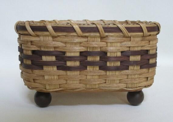 Napkin Basket-Bread Basket-Handwoven Basket- Square Basket
