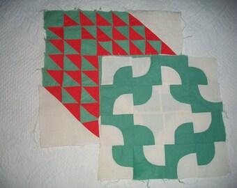 Vintage Quilt Blocks, Christmas