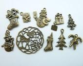 10pcs Christmas  Charm Collection Mix-4