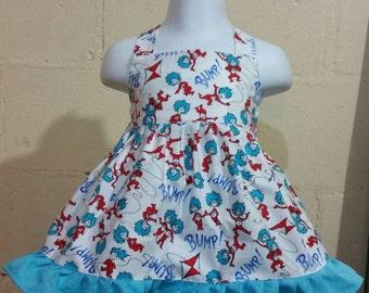 Halter or cross back strap dress. Infant up to toddler.