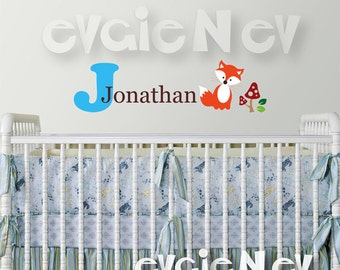 Personalized Custom Name - Forest Friends Wall Stickers - FRCN010