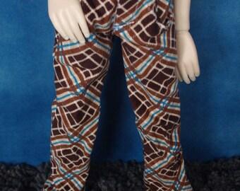 Brown Plaid Corduroy 44/45cm BJD Pants