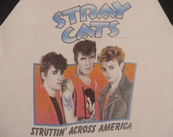 STRAY CATS 1983 tour T SHIRT