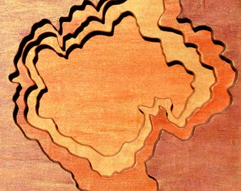 Capulin, New Mexico, Acrylic on Birch Plywood, map art