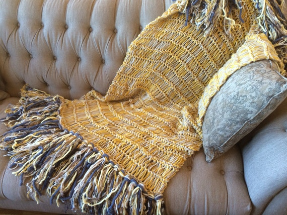 Blanket Yellow And Blue Throw Blanket Gold And By Cricketshome
