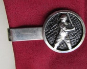 1960's - 50's Baseball tie bar for a skinny tie