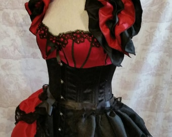 Plus Size HARLEY QUINN Cosplay  Shoulder Shrug   By Gothic Burlesque